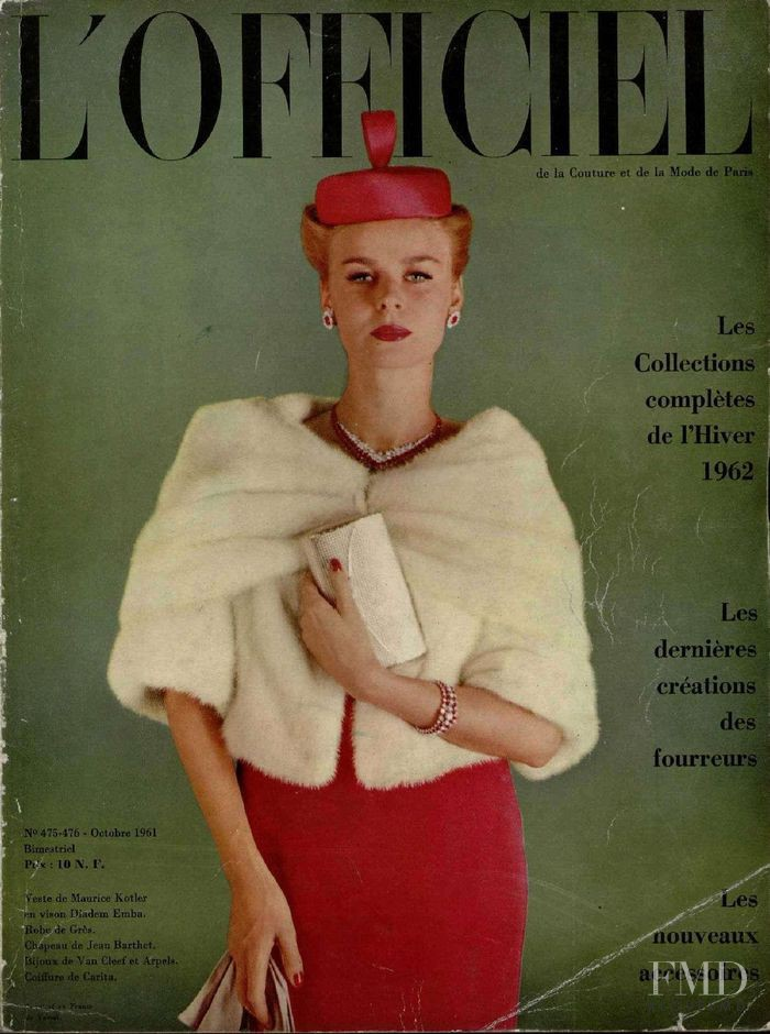 featured on the L\'Officiel France cover from October 1961
