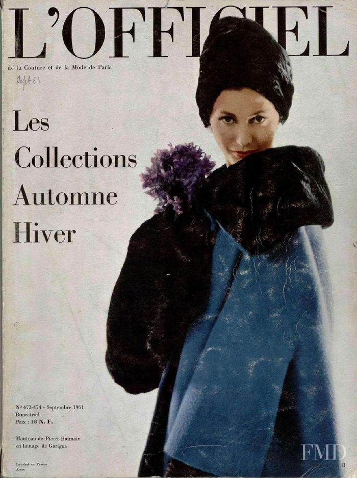 featured on the L\'Officiel France cover from September 1961