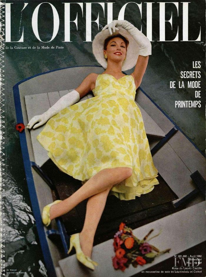 featured on the L\'Officiel France cover from April 1962