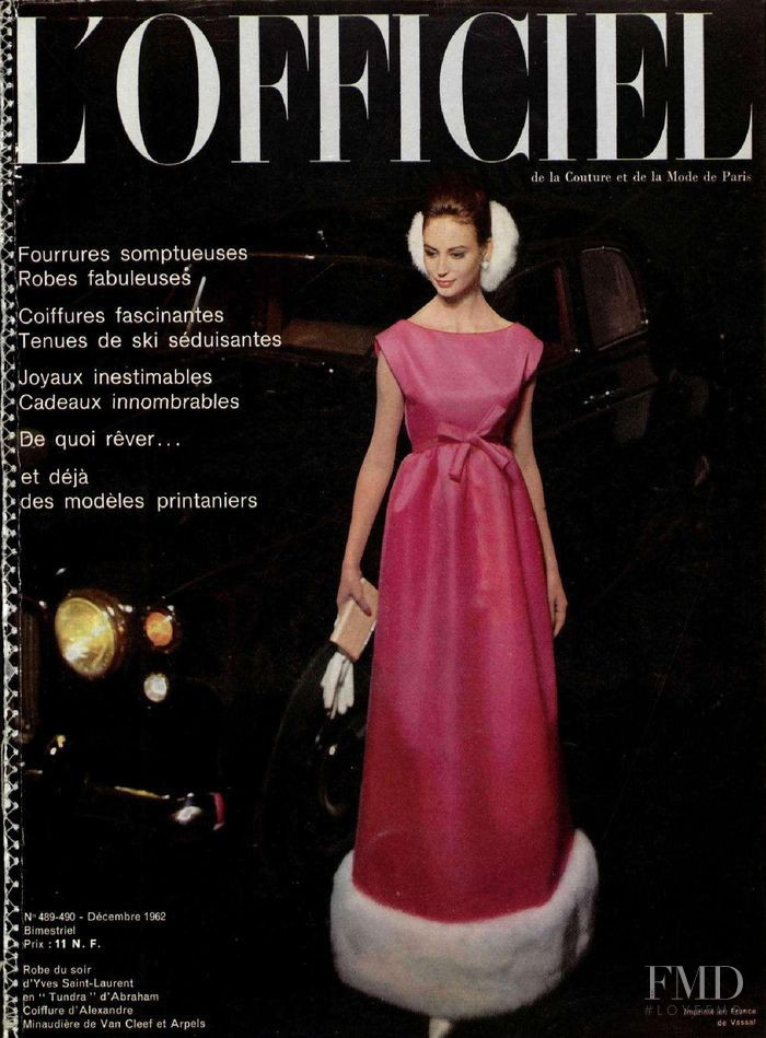featured on the L\'Officiel France cover from December 1962