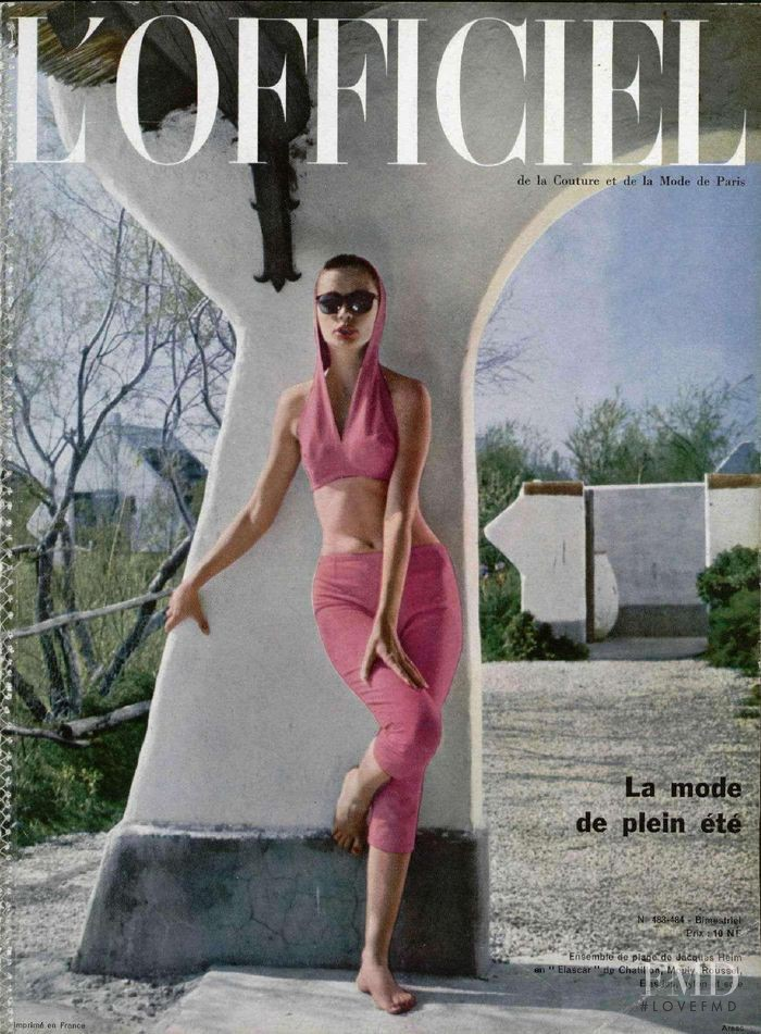 featured on the L\'Officiel France cover from June 1962