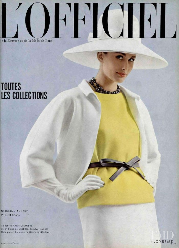 featured on the L\'Officiel France cover from April 1963