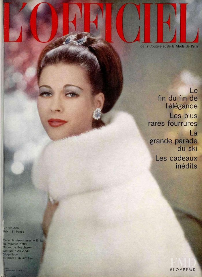 featured on the L\'Officiel France cover from December 1963