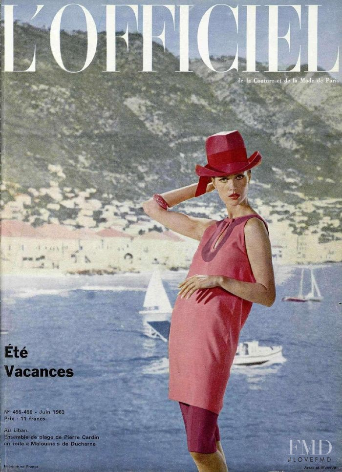 featured on the L\'Officiel France cover from June 1963