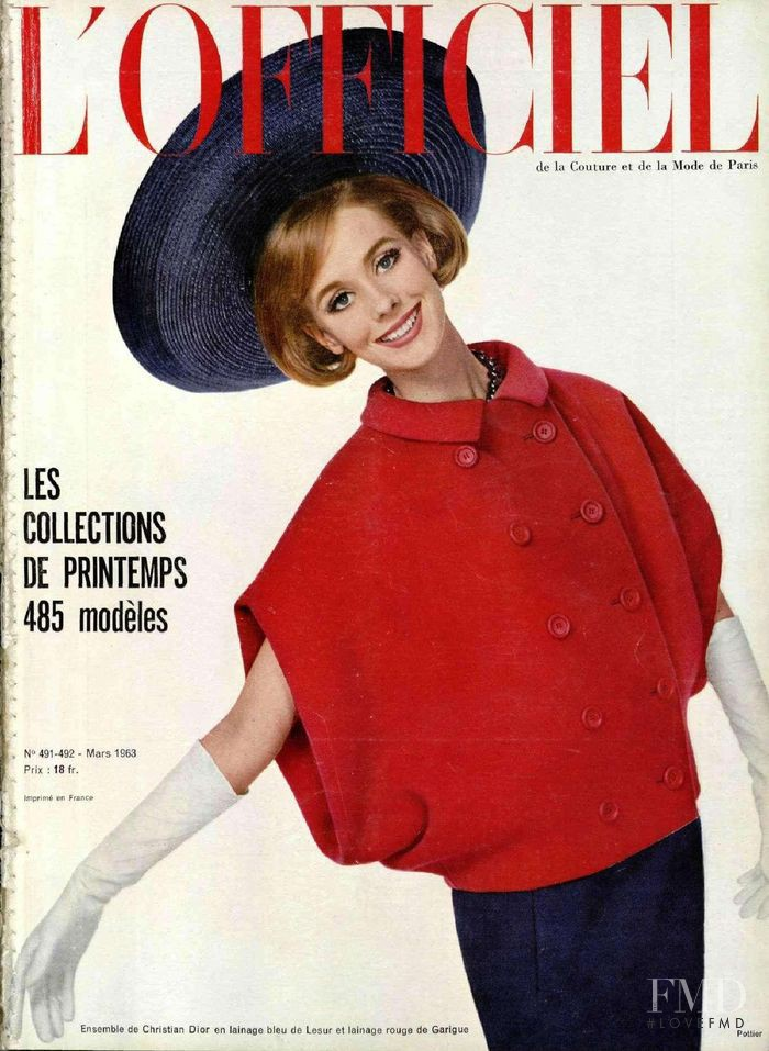 featured on the L\'Officiel France cover from March 1963