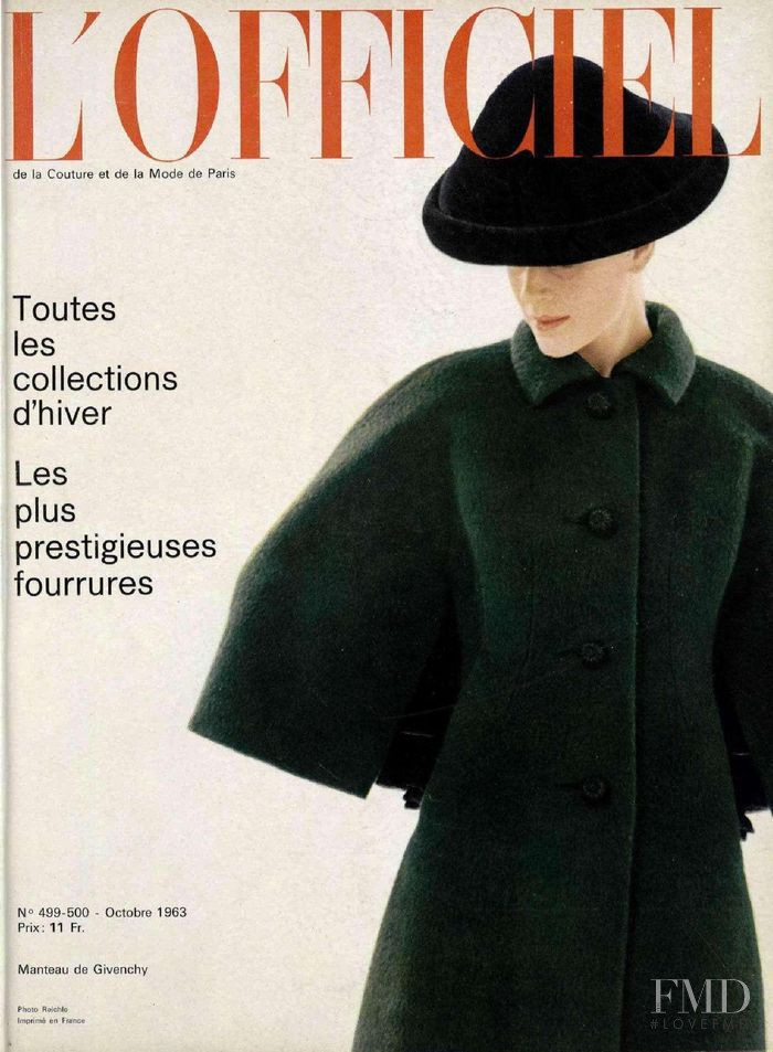 featured on the L\'Officiel France cover from October 1963