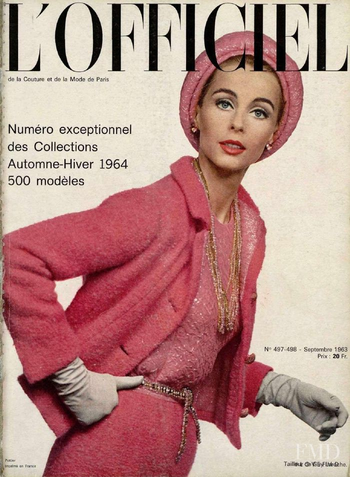 featured on the L\'Officiel France cover from September 1963