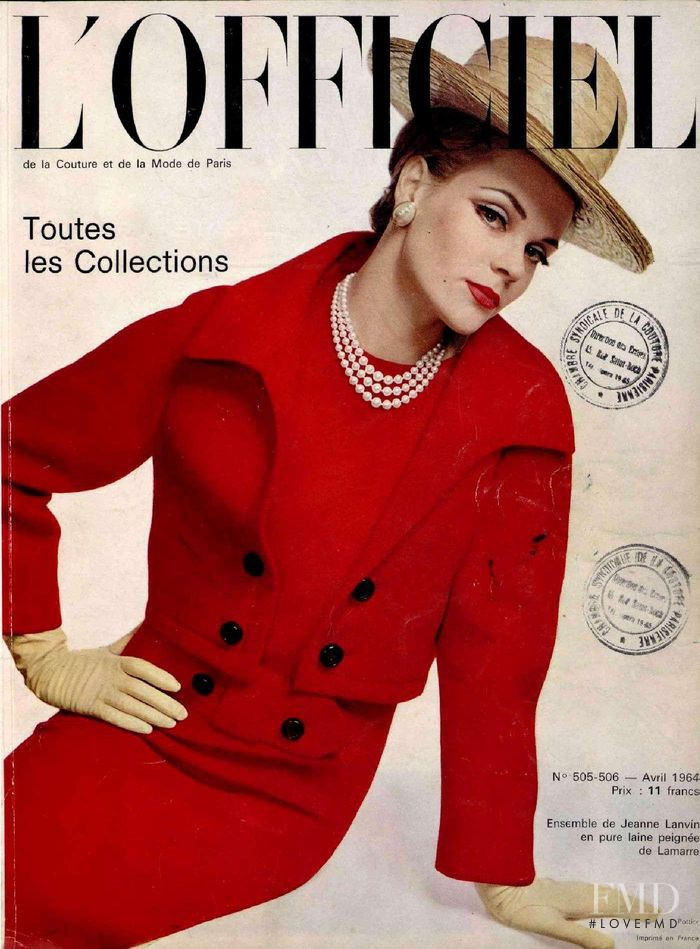 featured on the L\'Officiel France cover from April 1964