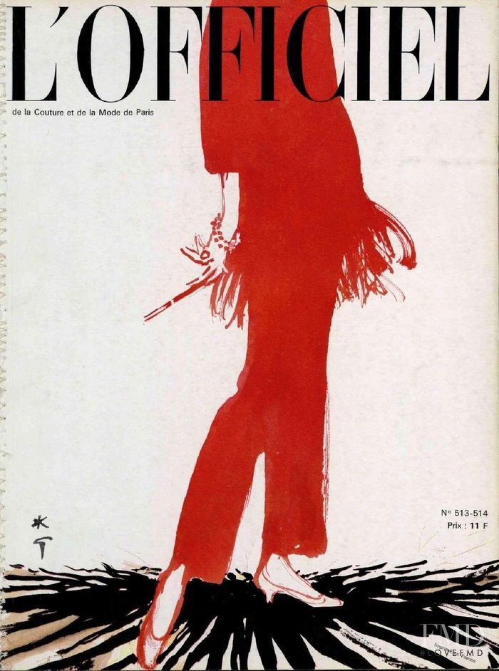 featured on the L\'Officiel France cover from December 1964