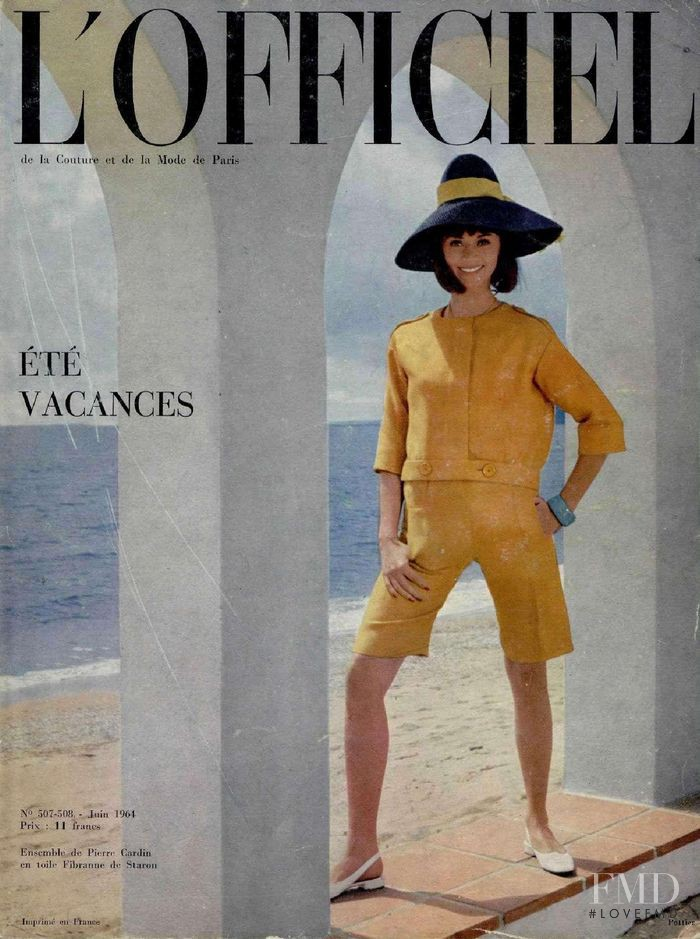 featured on the L\'Officiel France cover from June 1964