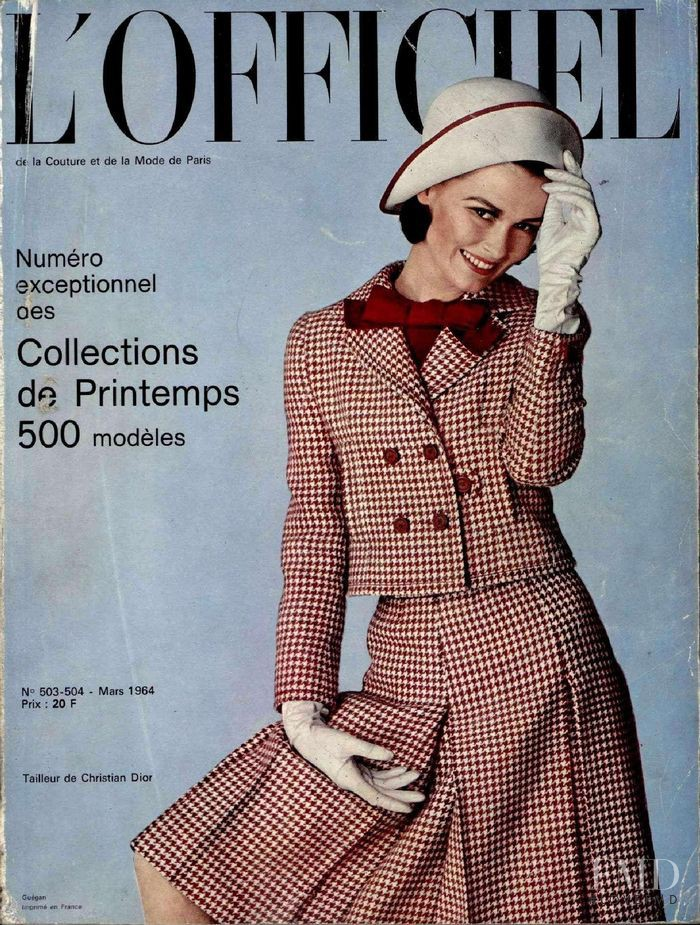 featured on the L\'Officiel France cover from March 1964