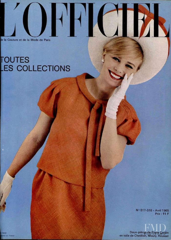 featured on the L\'Officiel France cover from April 1965
