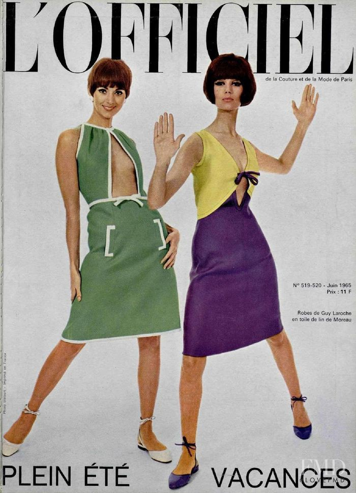 featured on the L\'Officiel France cover from June 1965
