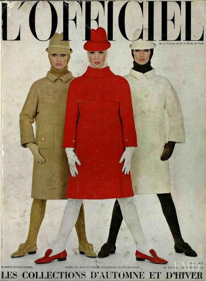 featured on the L\'Officiel France cover from September 1965