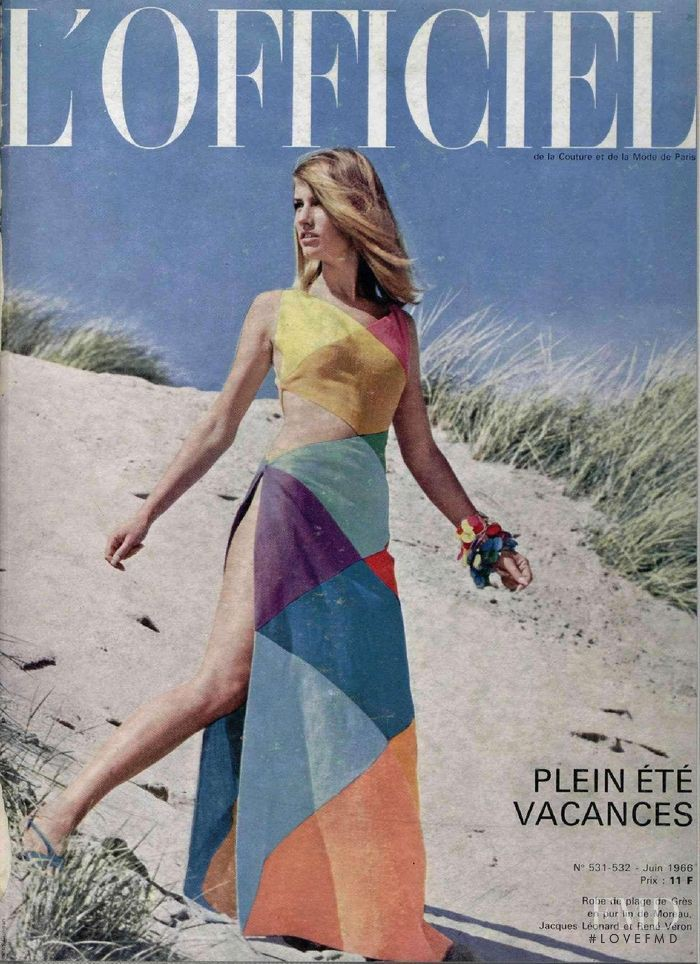 featured on the L\'Officiel France cover from June 1966