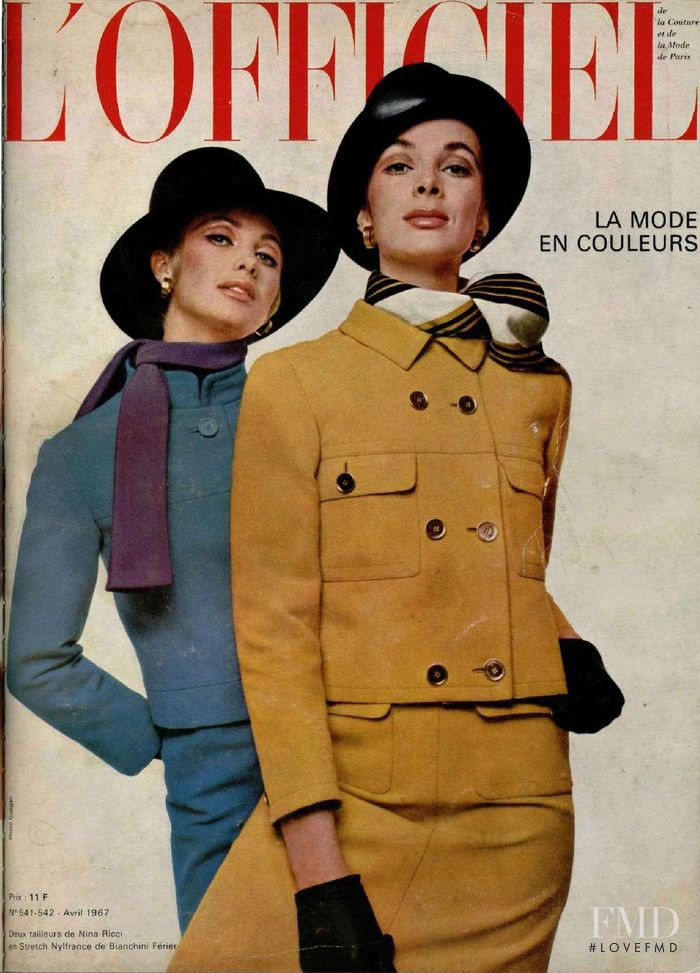 featured on the L\'Officiel France cover from April 1967