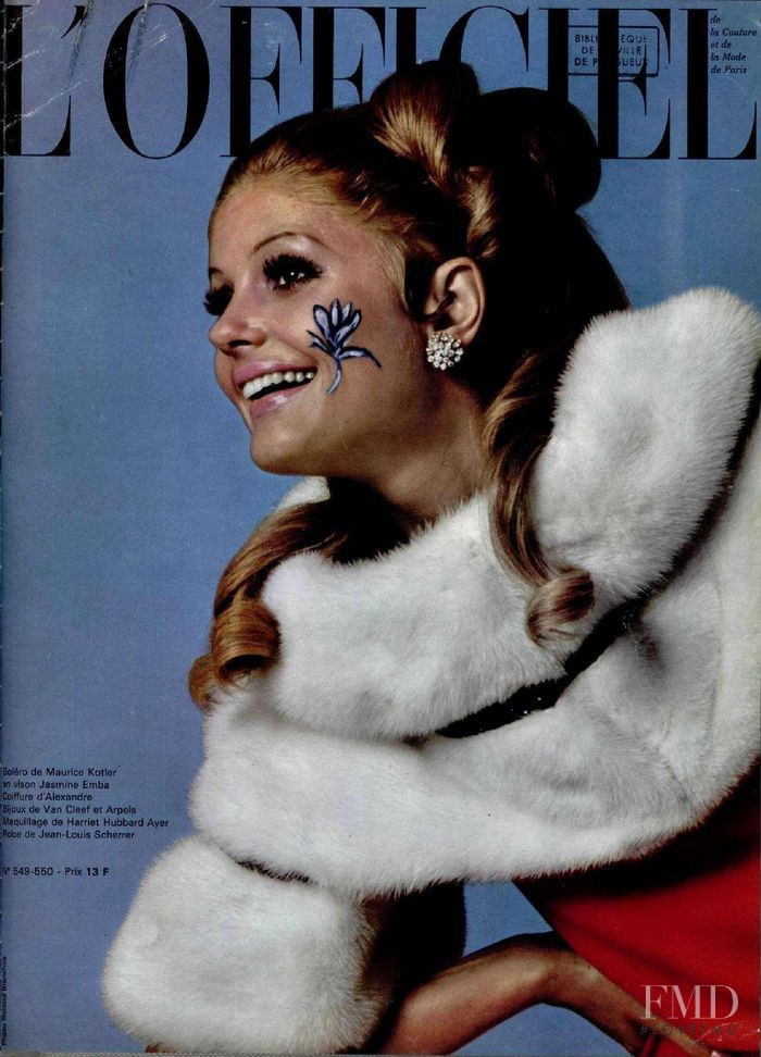 featured on the L\'Officiel France cover from December 1967