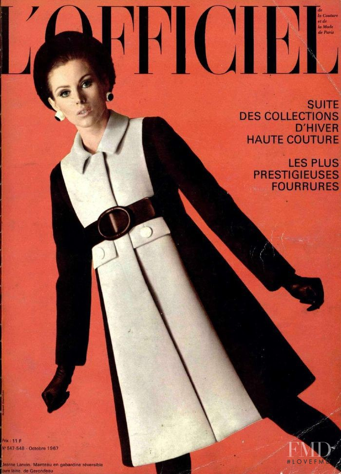 featured on the L\'Officiel France cover from October 1967