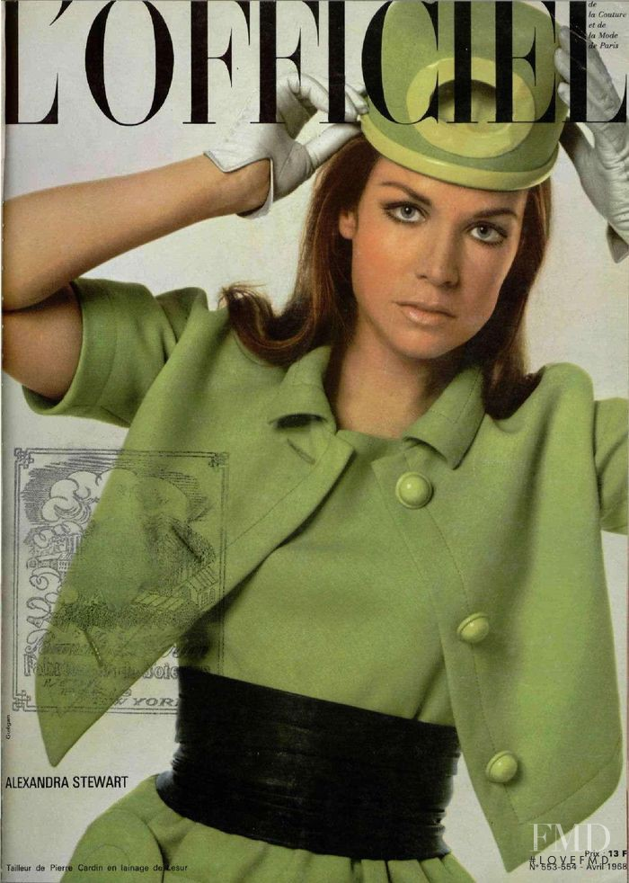 featured on the L\'Officiel France cover from April 1968