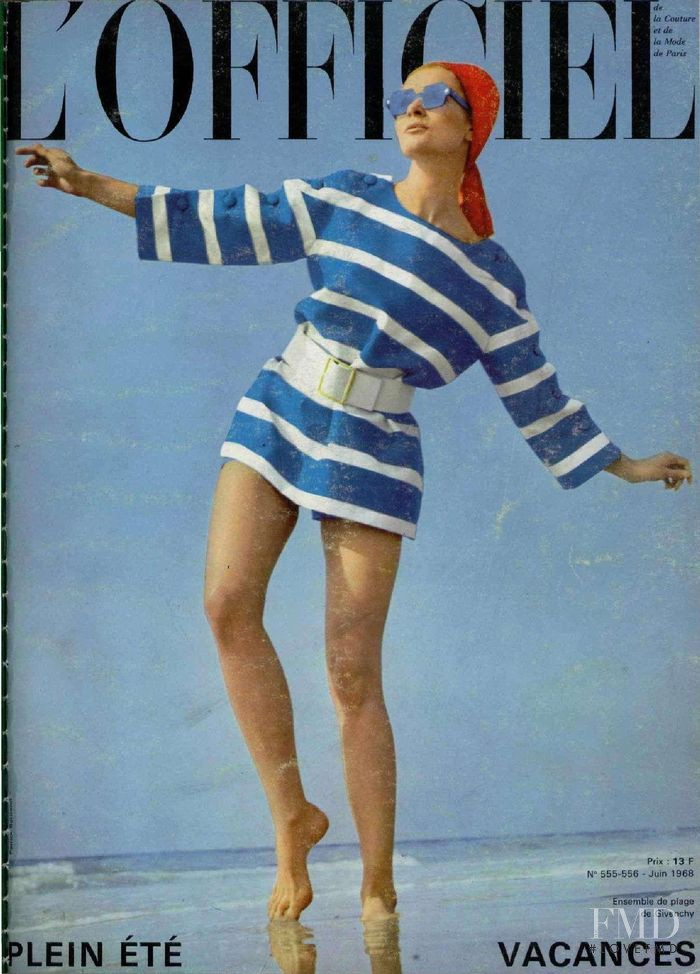 featured on the L\'Officiel France cover from June 1968