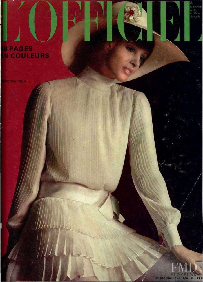 featured on the L\'Officiel France cover from April 1969