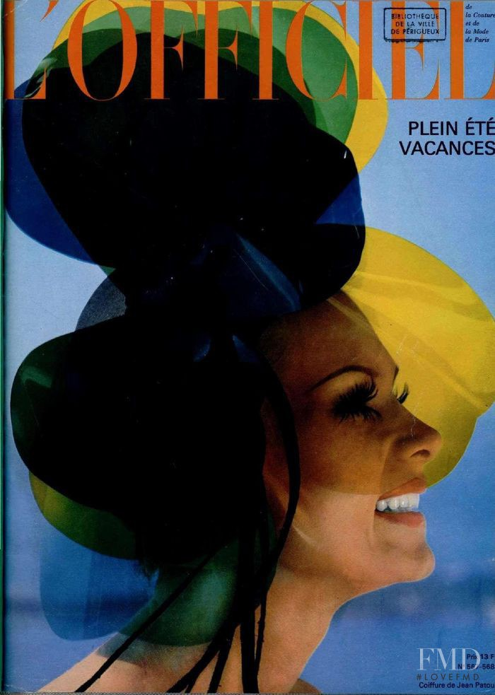 featured on the L\'Officiel France cover from June 1969