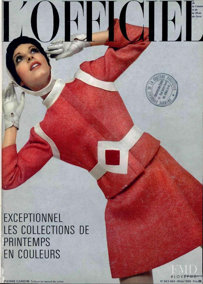 featured on the L\'Officiel France cover from March 1969