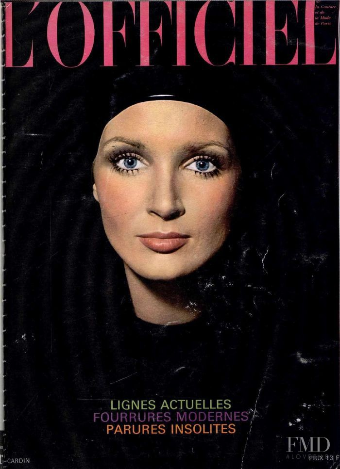 featured on the L\'Officiel France cover from October 1969