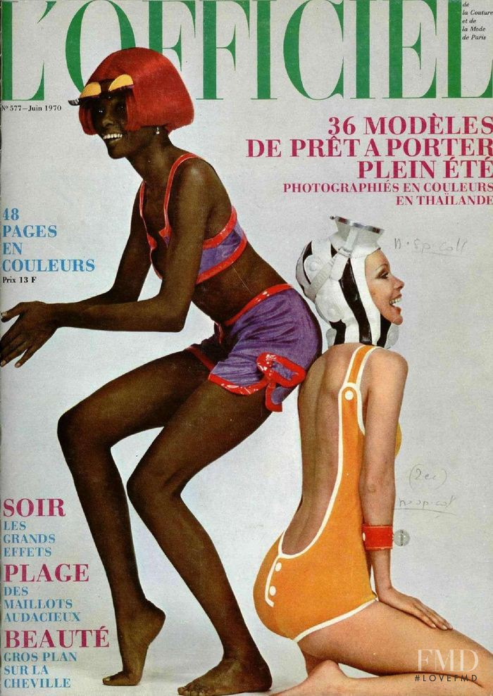 featured on the L\'Officiel France cover from June 1970