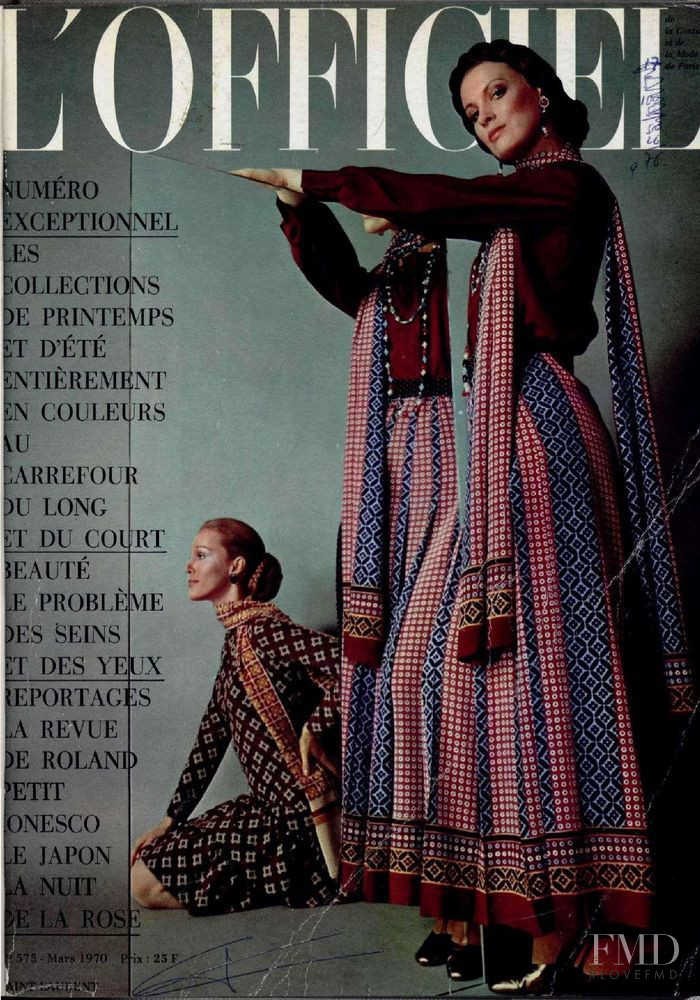 featured on the L\'Officiel France cover from March 1970