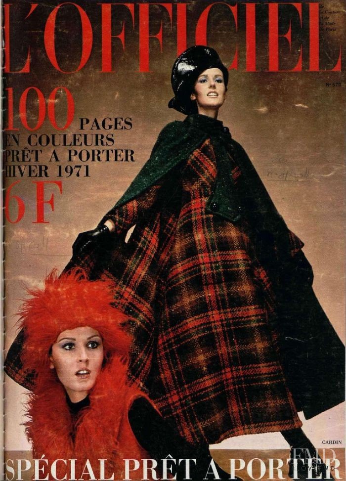 featured on the L\'Officiel France cover from November 1970