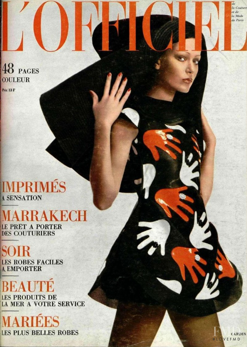 featured on the L\'Officiel France cover from April 1971