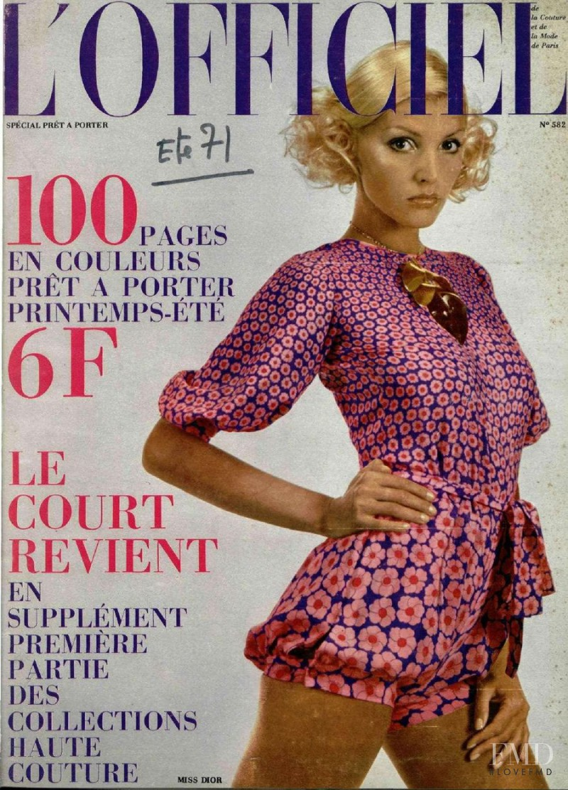 featured on the L\'Officiel France cover from February 1971
