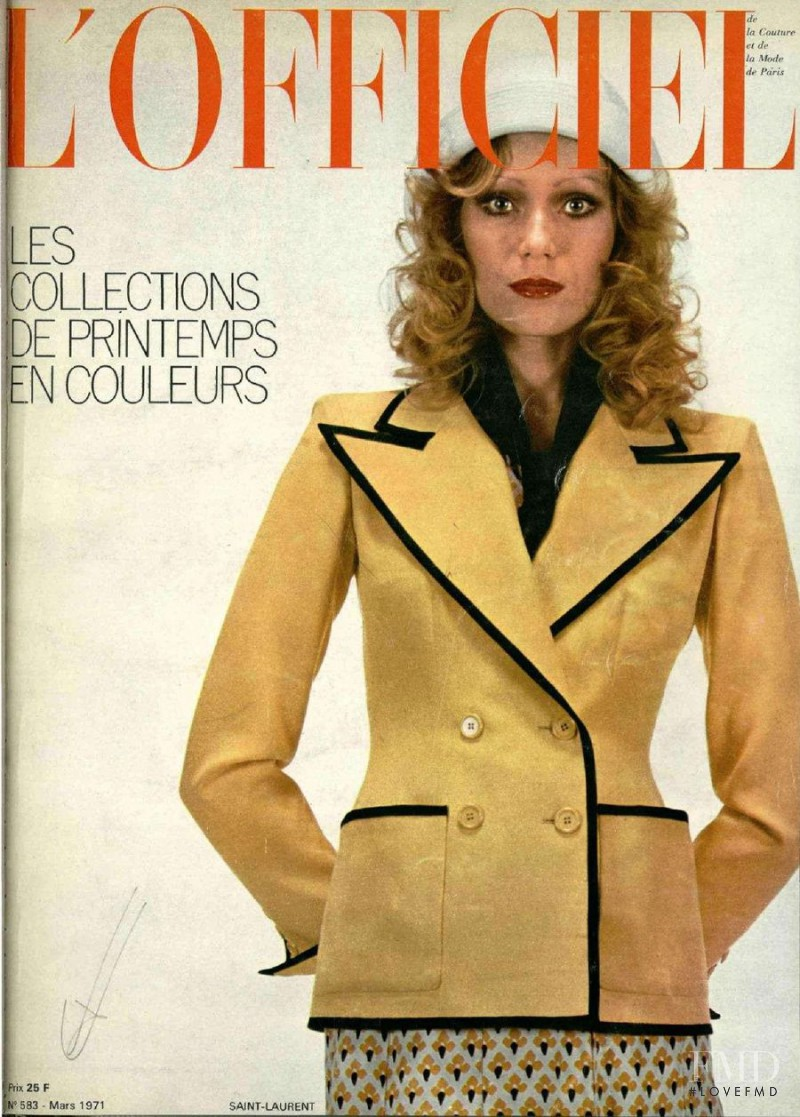 featured on the L\'Officiel France cover from March 1971