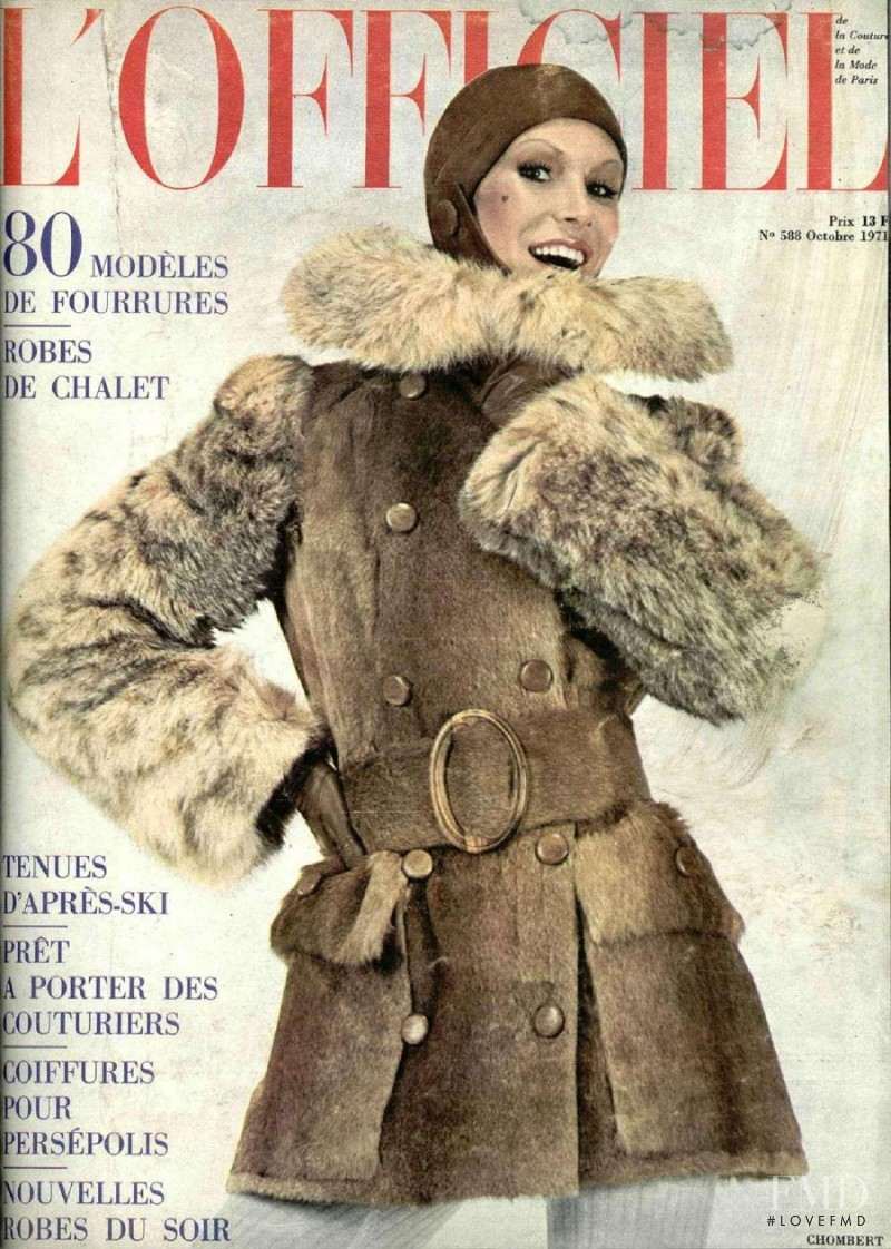 featured on the L\'Officiel France cover from October 1971