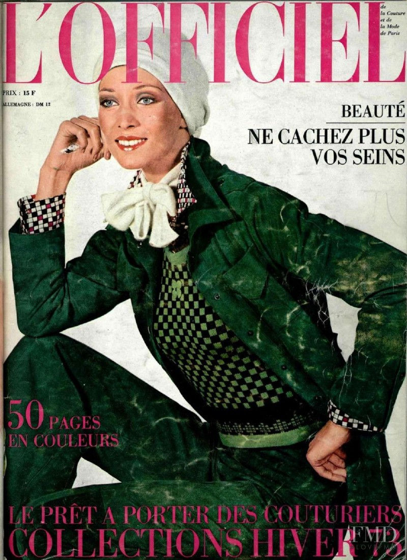 featured on the L\'Officiel France cover from December 1972