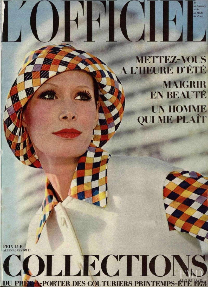 featured on the L\'Officiel France cover from February 1973