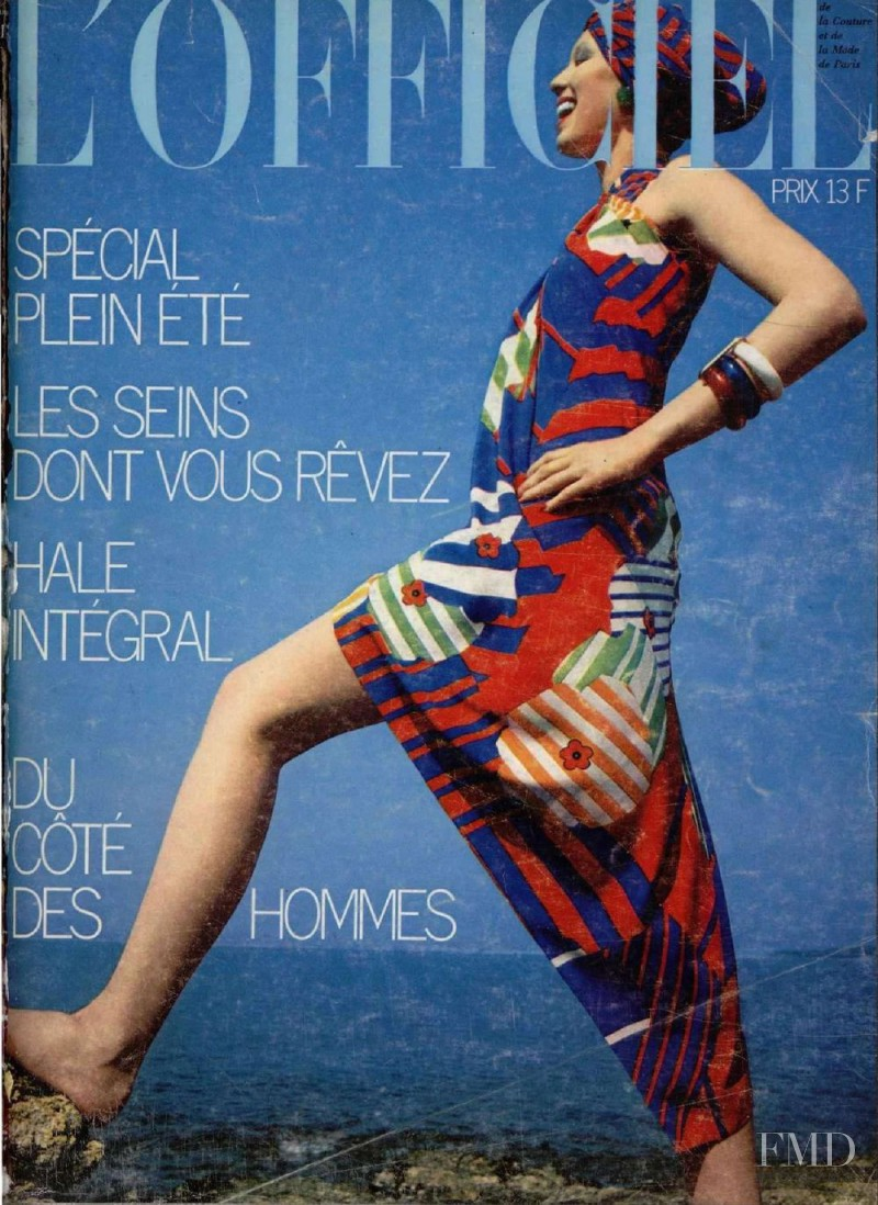 featured on the L\'Officiel France cover from June 1973