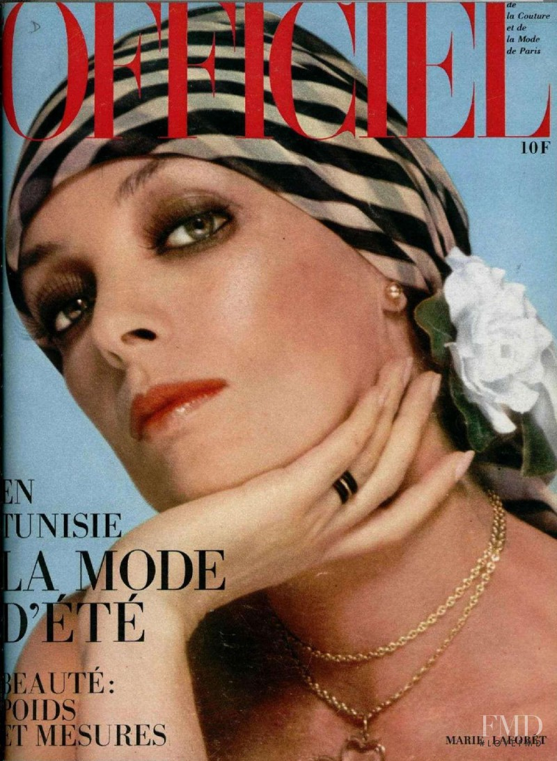 Marie Laforêt featured on the L\'Officiel France cover from April 1974