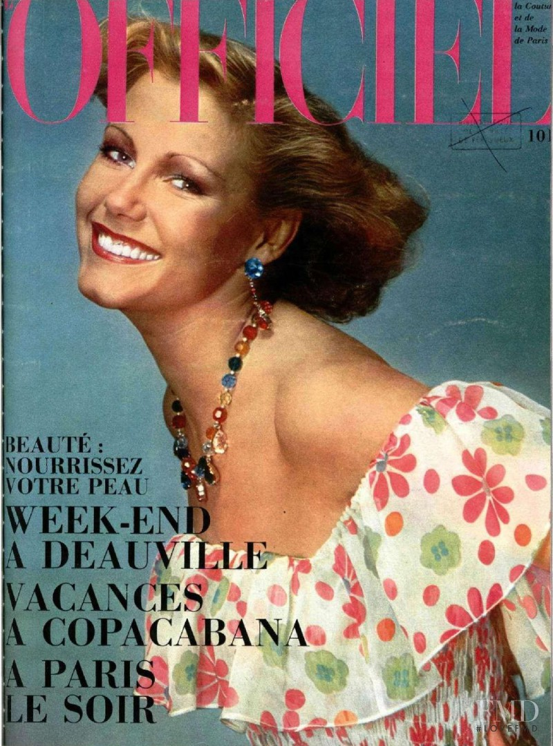 featured on the L\'Officiel France cover from June 1974