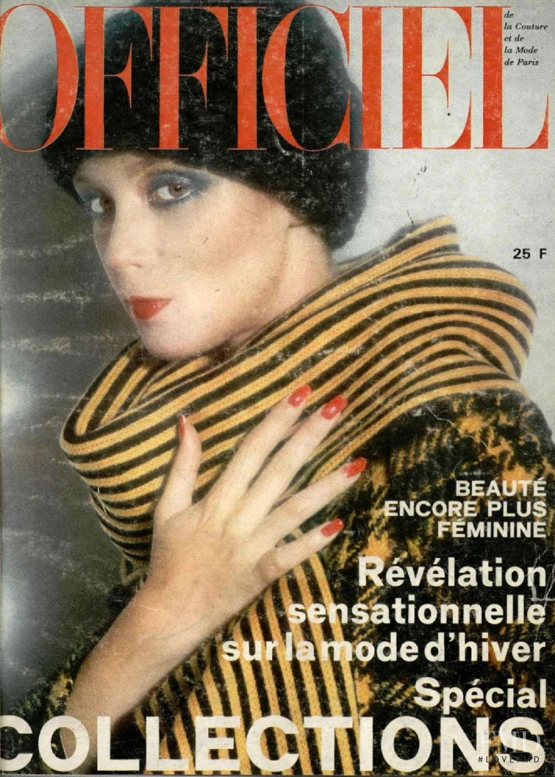 featured on the L\'Officiel France cover from September 1974