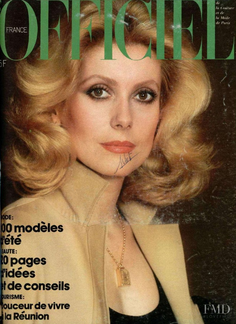 featured on the L\'Officiel France cover from April 1976