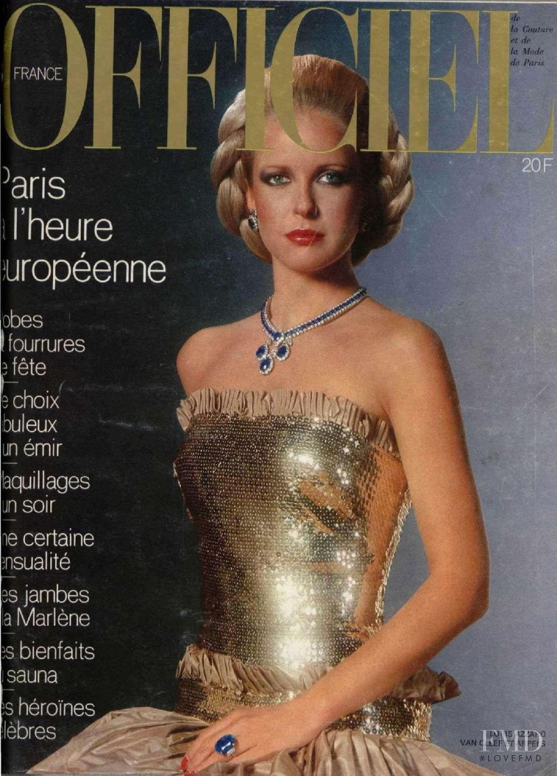 featured on the L\'Officiel France cover from December 1976