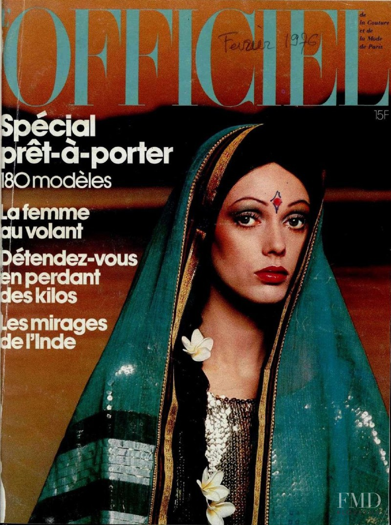 featured on the L\'Officiel France cover from February 1976