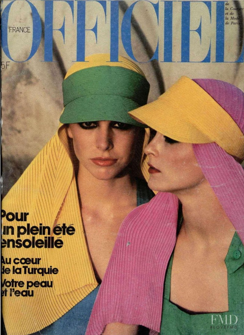 featured on the L\'Officiel France cover from June 1976