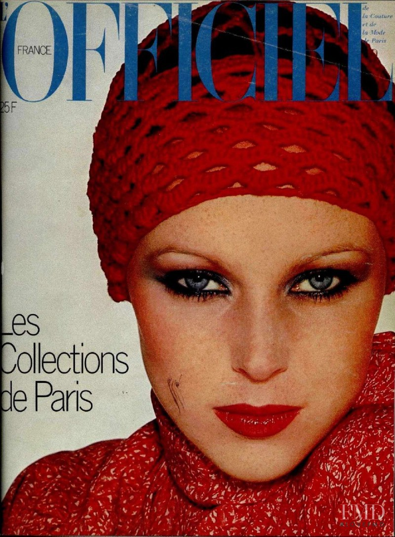 featured on the L\'Officiel France cover from March 1976