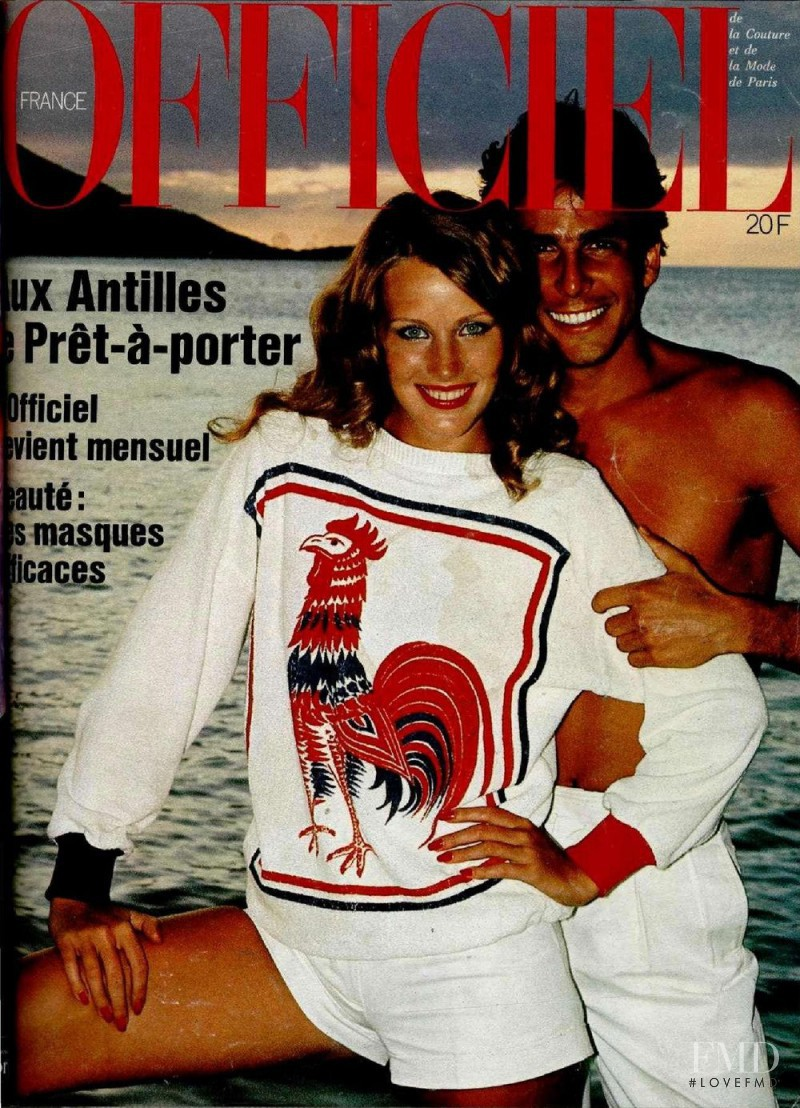 featured on the L\'Officiel France cover from April 1977