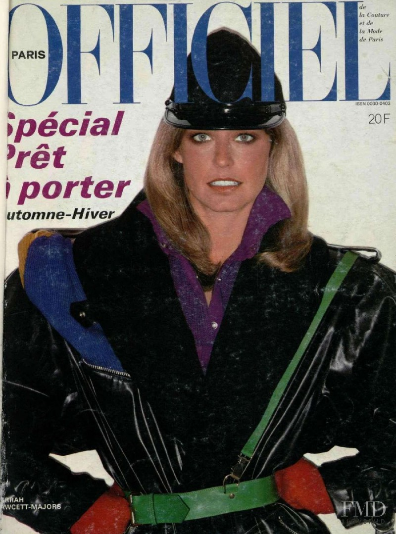 Farrah Fawcett featured on the L\'Officiel France cover from August 1978