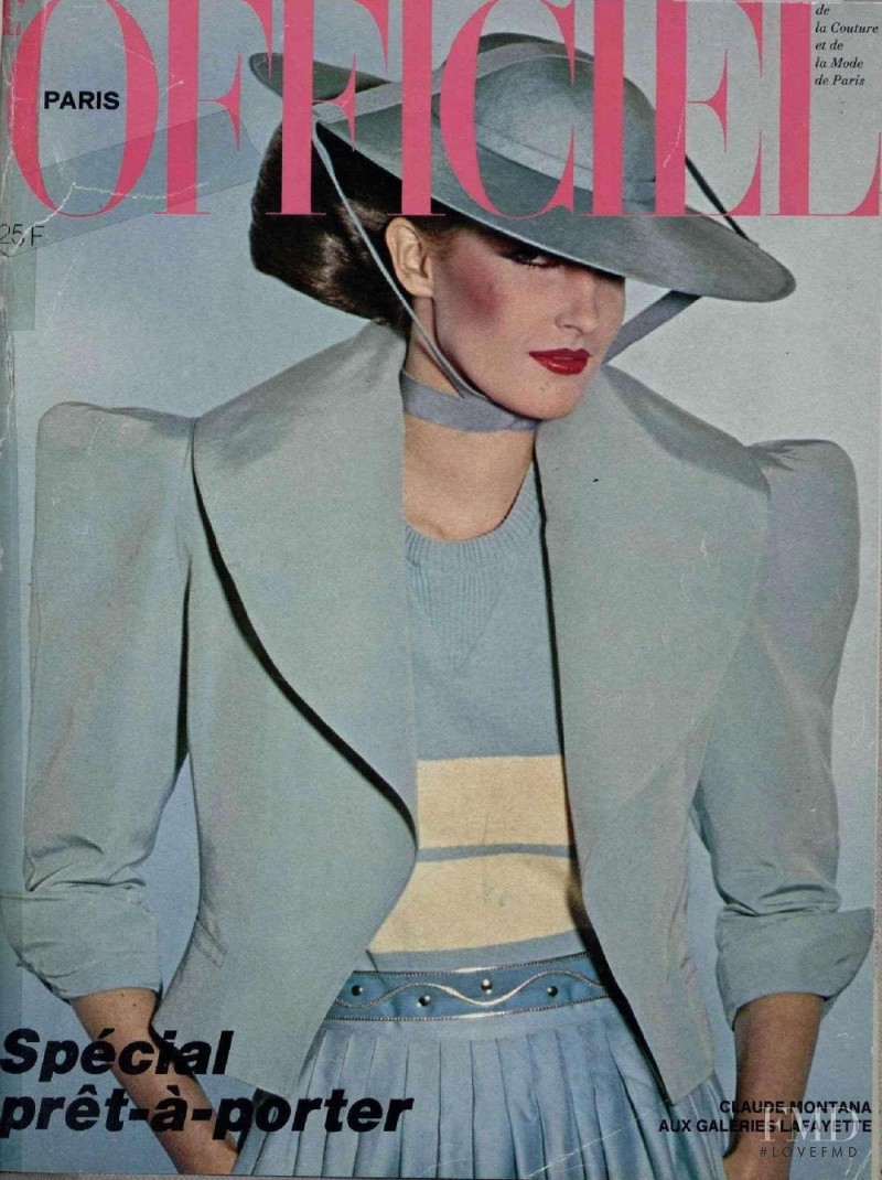 featured on the L\'Officiel France cover from February 1980