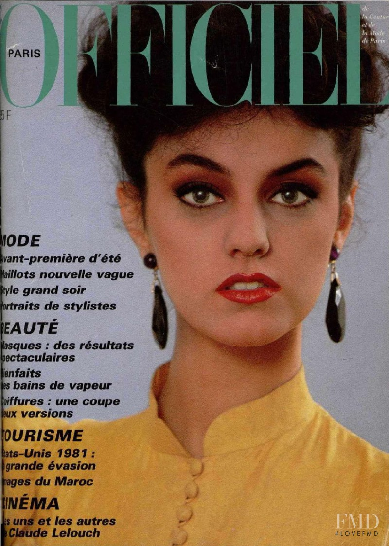 featured on the L\'Officiel France cover from April 1981
